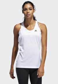 adidas Performance - PRIME 3-STRIPES TANK TOP - Top - white - 0