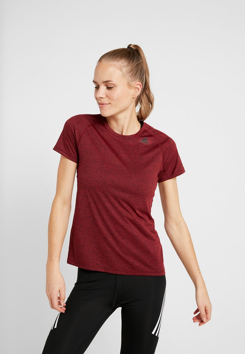adidas Performance - TECH PRIME - T-shirts med print - active maroon/heather