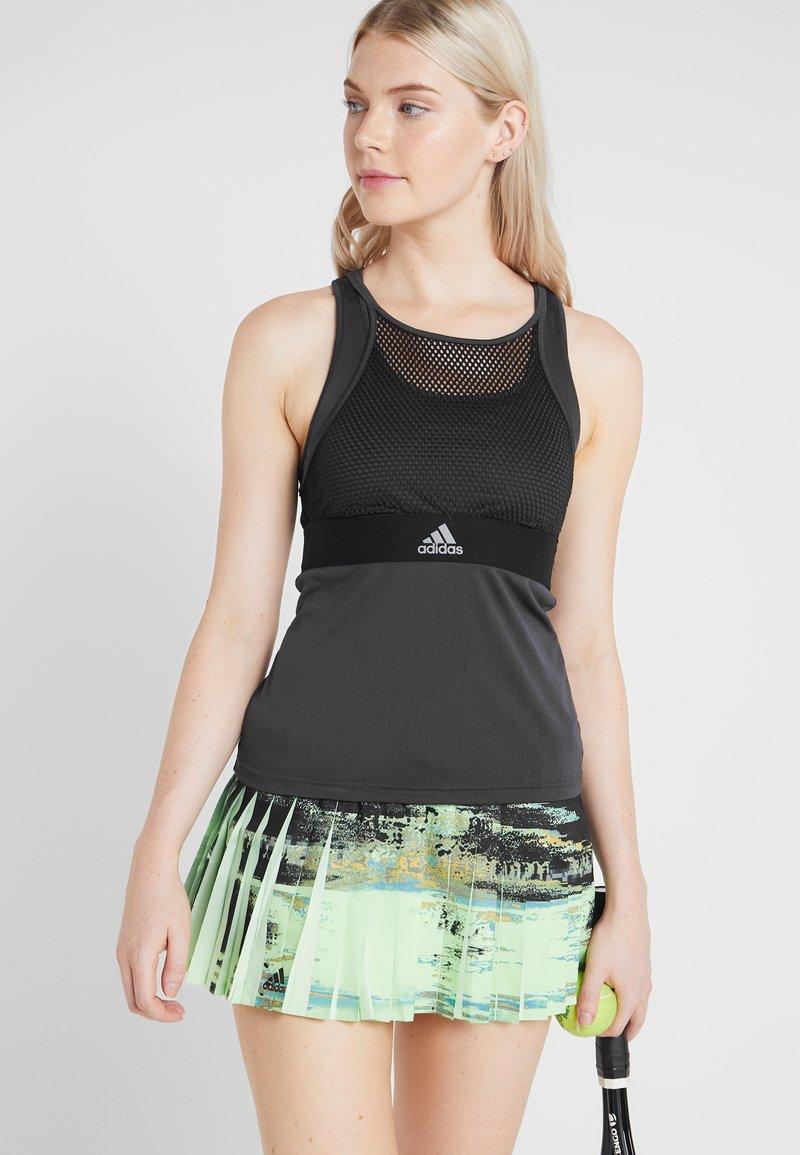 adidas Performance - TANK - Sports shirt - black