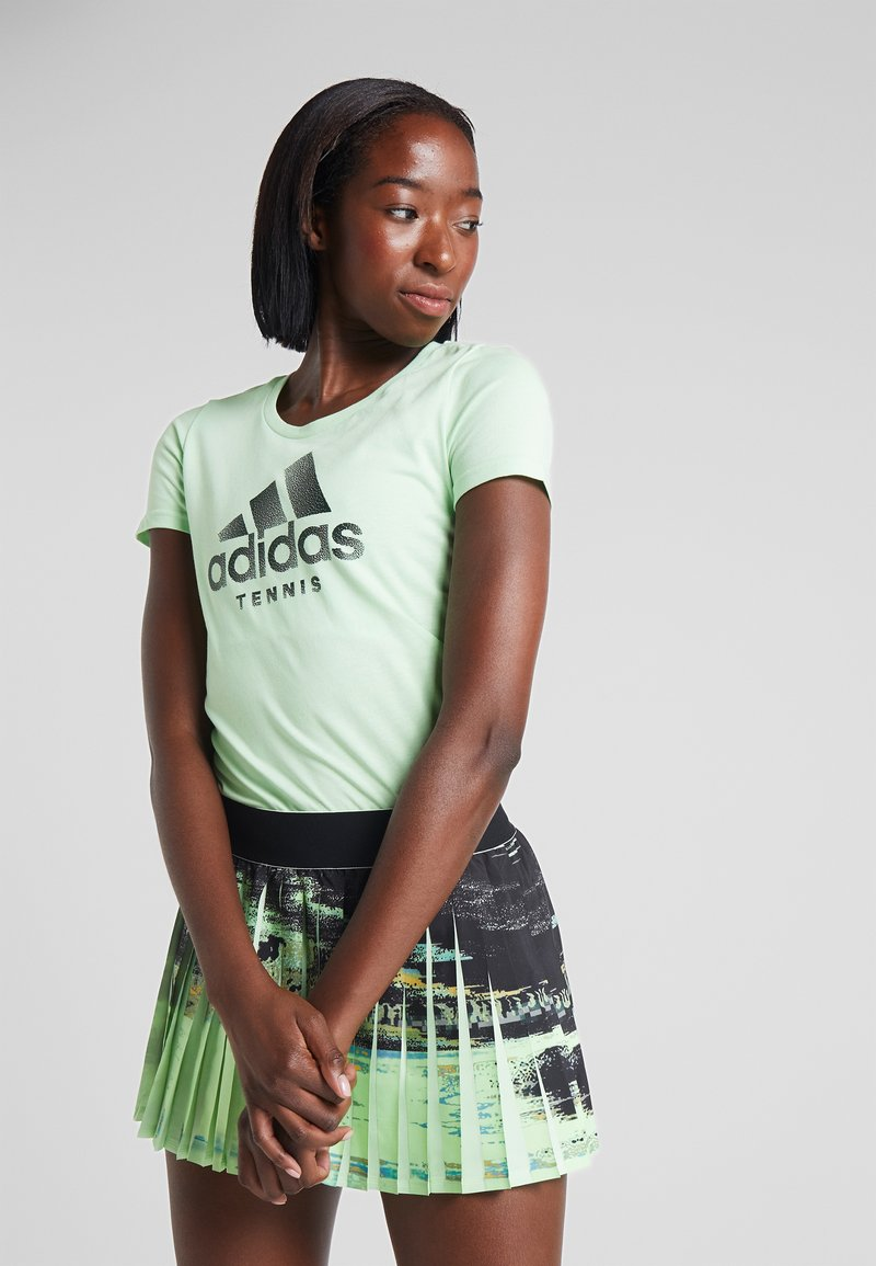 adidas Performance - CAT LOGO TEE - Print T-shirt - green