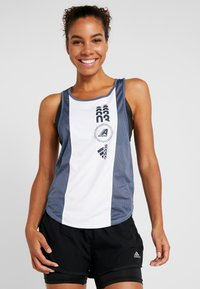 adidas Performance - CLIMACOOL WORKOUT GRAPHIC TANK - Top - white/tech ink - 0