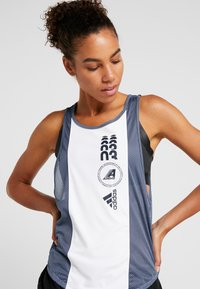 adidas Performance - CLIMACOOL WORKOUT GRAPHIC TANK - Top - white/tech ink - 4