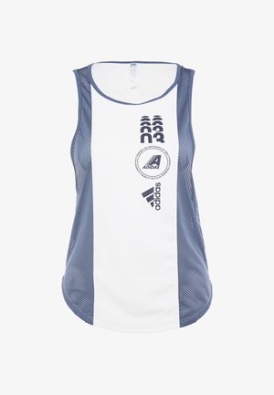 CLIMACOOL WORKOUT GRAPHIC TANK - Toppi - white/tech ink