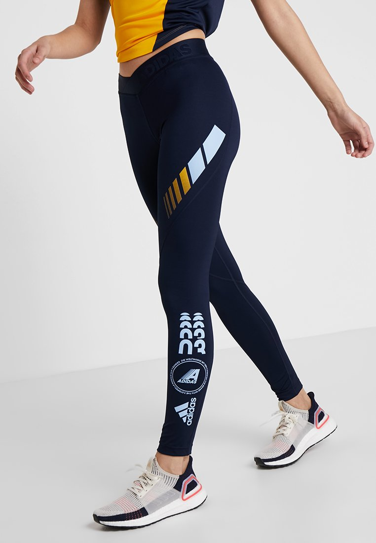 adidas Performance - ASK MOTO SPORT CLIMALITE ALPHASKIN LONG LEGGINGS - Leggings - legend ink