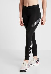 adidas Performance - ASK MOTO SPORT CLIMALITE ALPHASKIN LONG LEGGINGS - Tights - black - 0