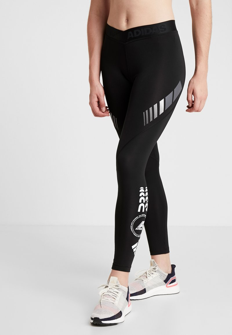 adidas Performance - ASK MOTO SPORT CLIMALITE ALPHASKIN LONG LEGGINGS - Tights - black