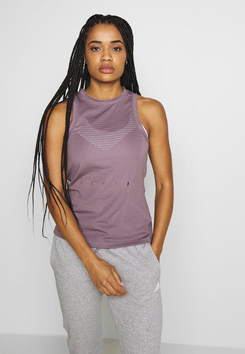 adidas Performance - KNIT SPORT CLIMALITE WORKOUT TANK TOP - Sports shirt - purple