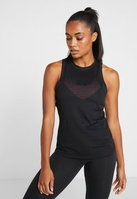 adidas Performance - KNIT SPORT CLIMALITE WORKOUT TANK TOP - Sportshirt - black - 0
