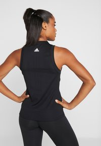adidas Performance - KNIT SPORT CLIMALITE WORKOUT TANK TOP - Sportshirt - black - 2