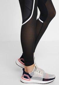 adidas Performance - SPORT CLIMACOOL WORKOUT HIGH WAIST LEGGINGS - Legging - black/white - 4