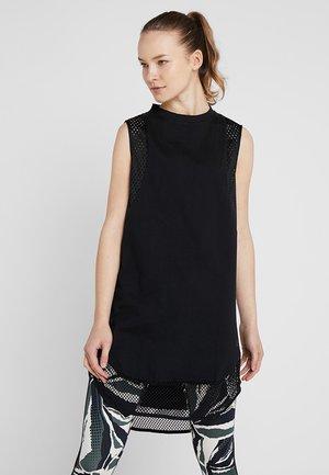LONG TEE - T-shirt de sport - black
