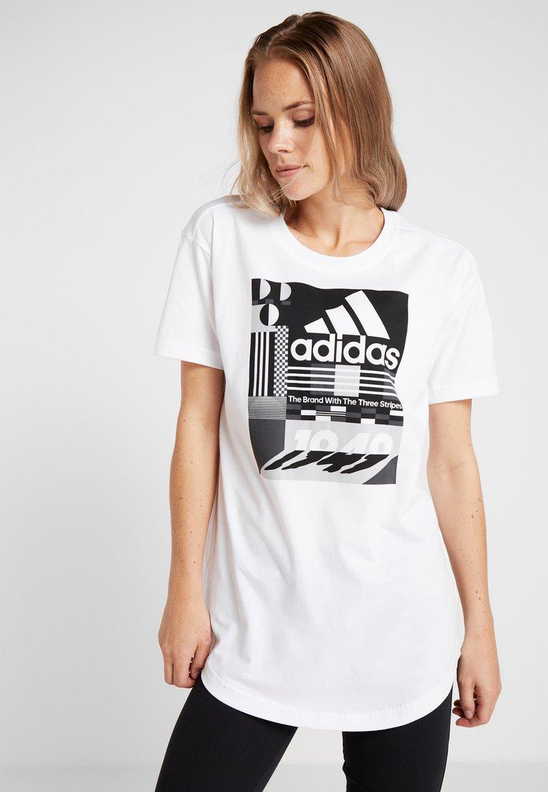 adidas Performance - GRAPHIC  - T-Shirt print - white