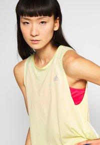 adidas Performance - TANK COOLER - Sports shirt - yellow - 4