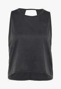 adidas Performance - TANK COOLER - Treningsskjorter - black/heather - 4