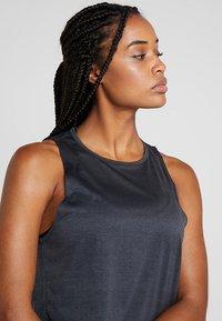 adidas Performance - TANK COOLER - Treningsskjorter - black/heather - 3