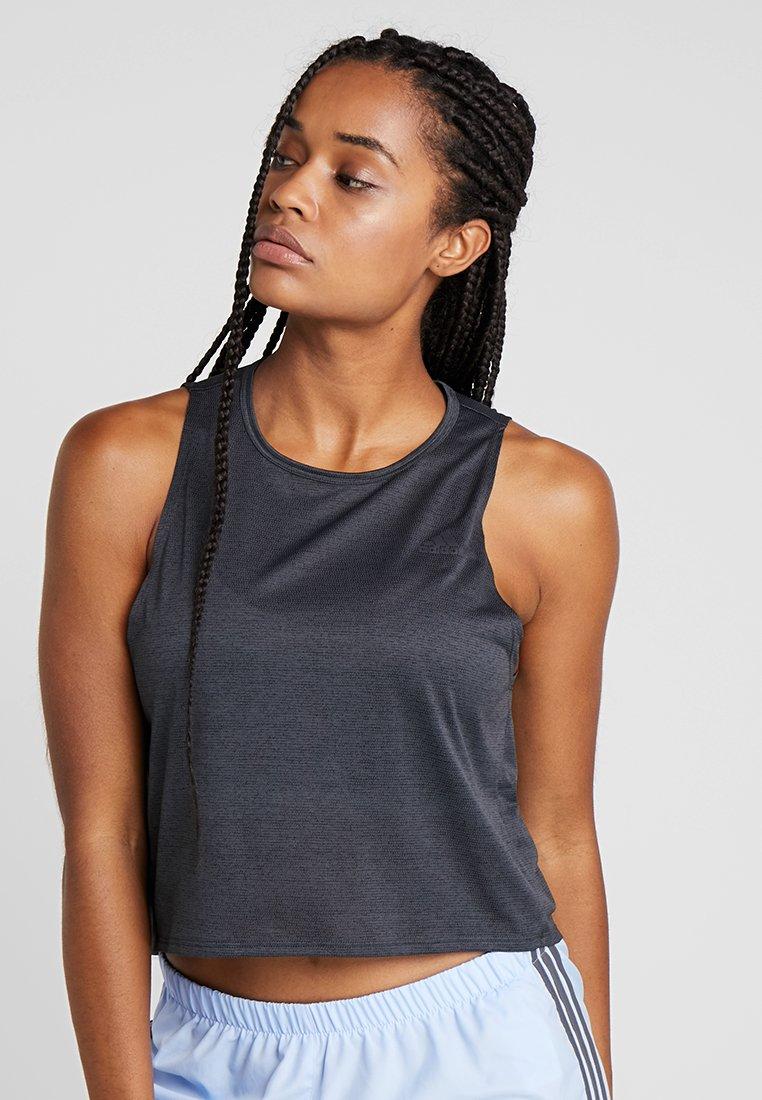 adidas Performance - TANK COOLER - Camiseta de deporte - black/heather
