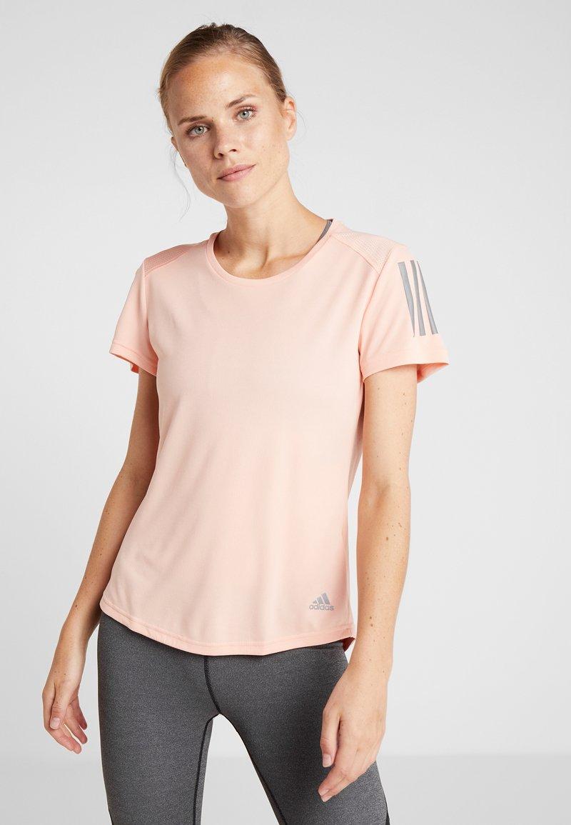 adidas Performance - THE RUN TEE - T-shirt med print - pink