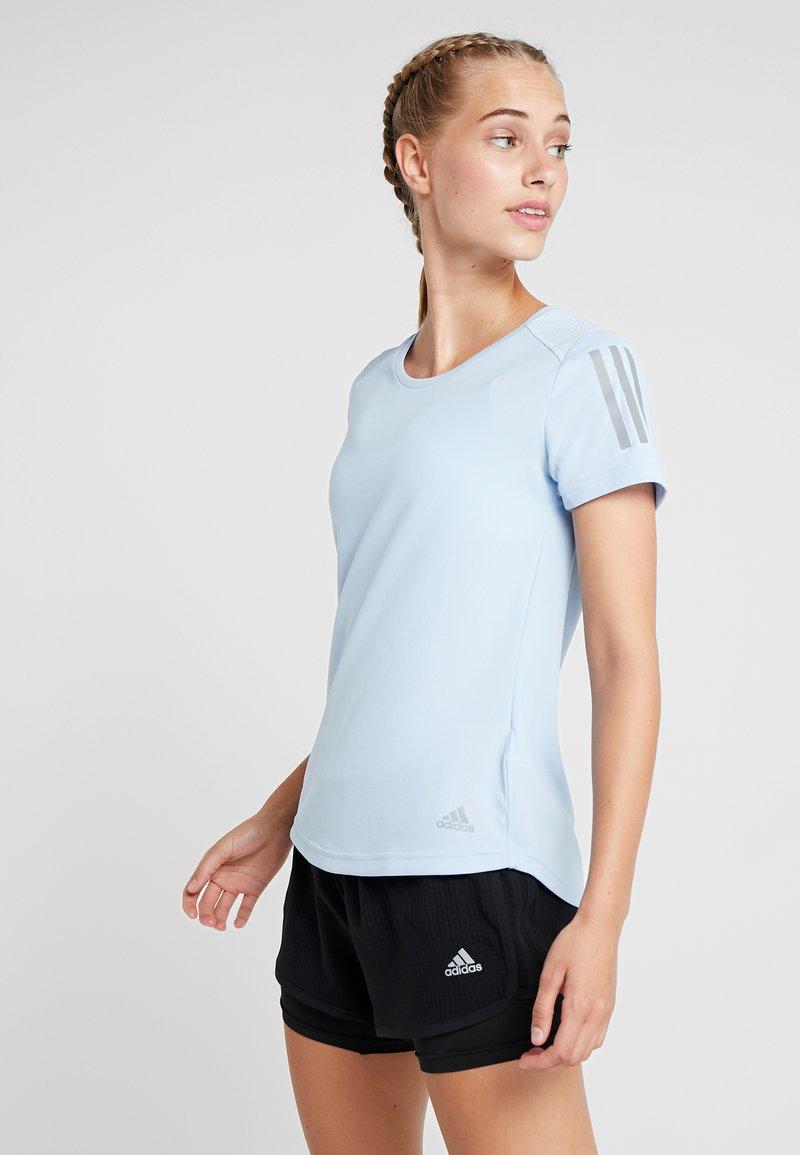 adidas Performance - OWN THE RUN TEE - Camiseta estampada - blue
