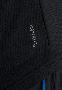 adidas Performance - THE RUN TEE - T-shirt med print - black - 4