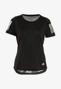 adidas Performance - THE RUN TEE - T-shirt med print - black - 5