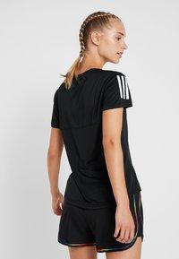 adidas Performance - THE RUN TEE - T-Shirt print - black - 2