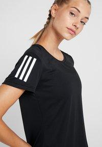 adidas Performance - THE RUN TEE - T-Shirt print - black - 3