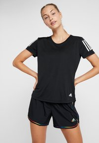 adidas Performance - THE RUN TEE - T-Shirt print - black - 0