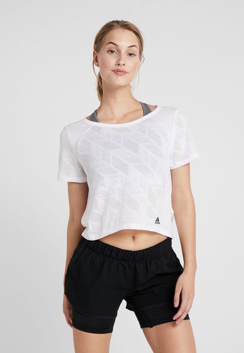 adidas Performance - BURNOUT SPORT WORKOUT T-SHIRT - Sports shirt - white