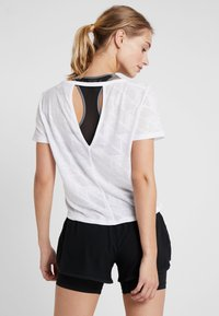 adidas Performance - BURNOUT SPORT WORKOUT T-SHIRT - Sports shirt - white - 2