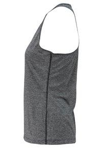 adidas Performance - TECH PRIME TANK - Sports shirt - mottled black - 2