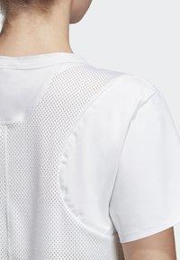 adidas by Stella McCartney - SPORT CLIMACOOL RUNNING T-SHIRT - Sportshirt - white - 8