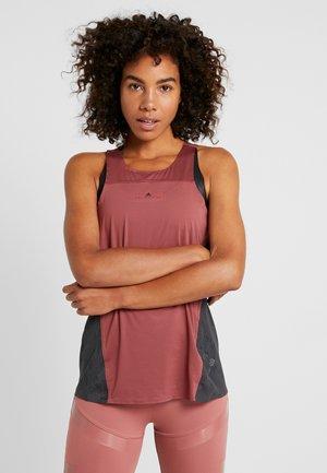 CLIMACOOL RUNNING TANK - T-shirt de sport - clay red/utility black