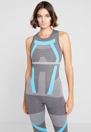 PRIMEKNIT RUNNING TANK TOP - Sportshirt - grey five/grey/blue