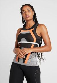 adidas Performance - PRIMEKNIT RUNNING TANK TOP - T-shirt de sport - black/chalk white/sesoor - 0