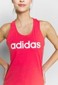 adidas Performance - SLIM - T-shirt z nadrukiem - pink/white - 4