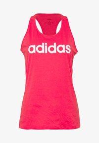 adidas Performance - SLIM - T-shirt z nadrukiem - pink/white - 3
