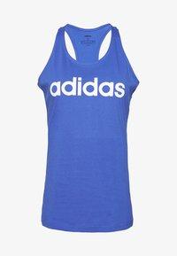adidas Performance - SLIM - T-Shirt print - blue/white - 3