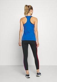 adidas Performance - SLIM - T-Shirt print - blue/white - 0