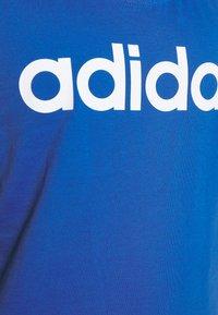 adidas Performance - SLIM - T-Shirt print - blue/white - 4