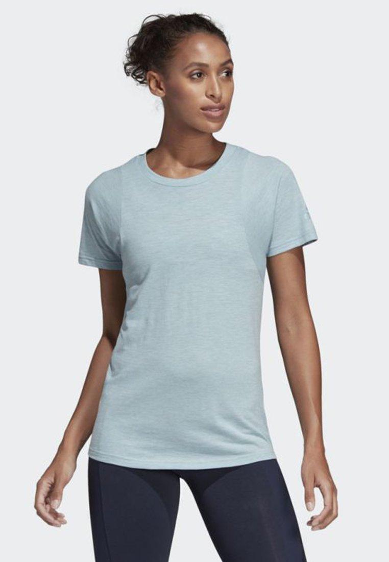 adidas Performance - ID WINNERS CREWNECK TEE - T-shirt - bas - blue