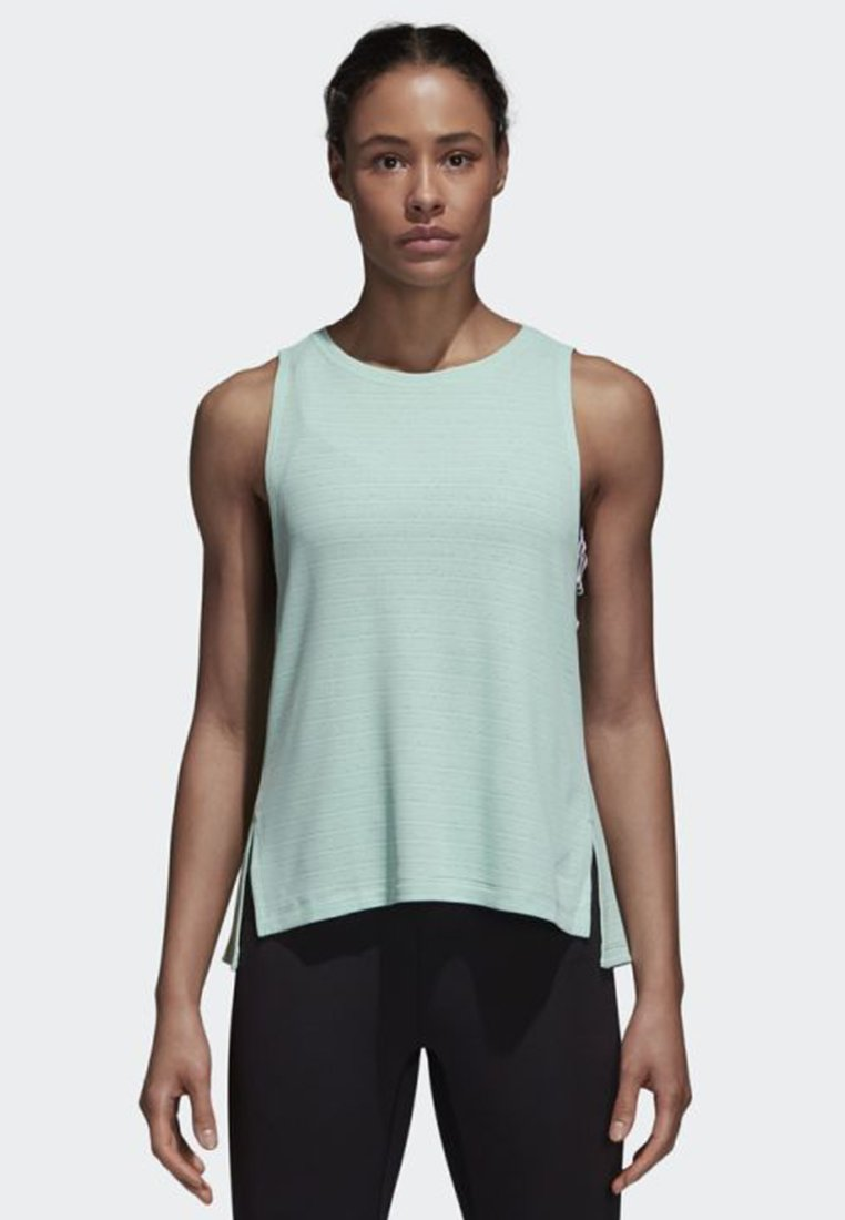 adidas Performance - CHILL TANK TOP - Toppe - turquoise