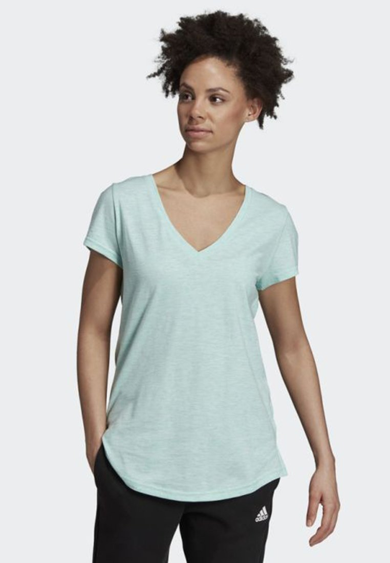 adidas Performance - ID WINNERS V-NECK T-SHIRT - Basic T-shirt - turquoise