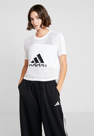 MESH SPORT CLIMACOOL WORKOUT T-SHIRT - Sports shirt - white