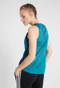 adidas Performance - LOOSE TANK - Funkční triko - active teal - 2