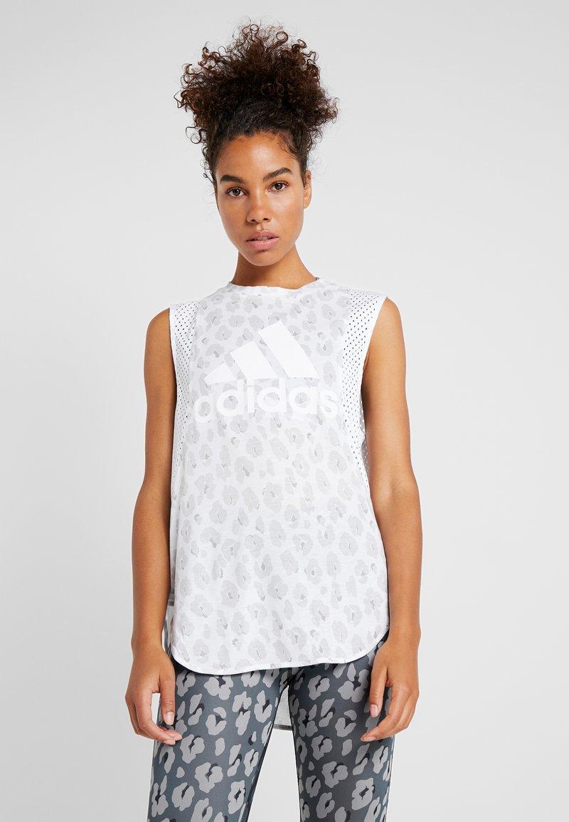 adidas Performance - GRAPHIC TEE - Treningsskjorter - white