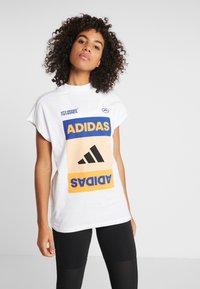adidas Performance - GRAPH TEE - Print T-shirt - white - 0