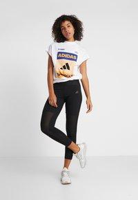 adidas Performance - GRAPH TEE - Print T-shirt - white - 1