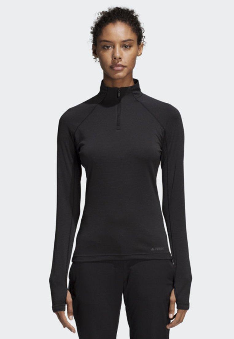 adidas Performance - TRACE ROCKER LONG-SLEEVE TOP - Sports shirt - black