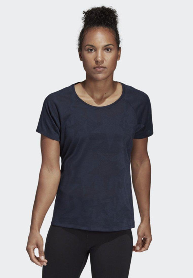 adidas Performance - ITERATION TRAINING T-SHIRT - T-Shirt print - blue