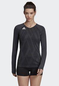adidas Performance - QUICKSET JERSEY - Sports shirt - black - 0